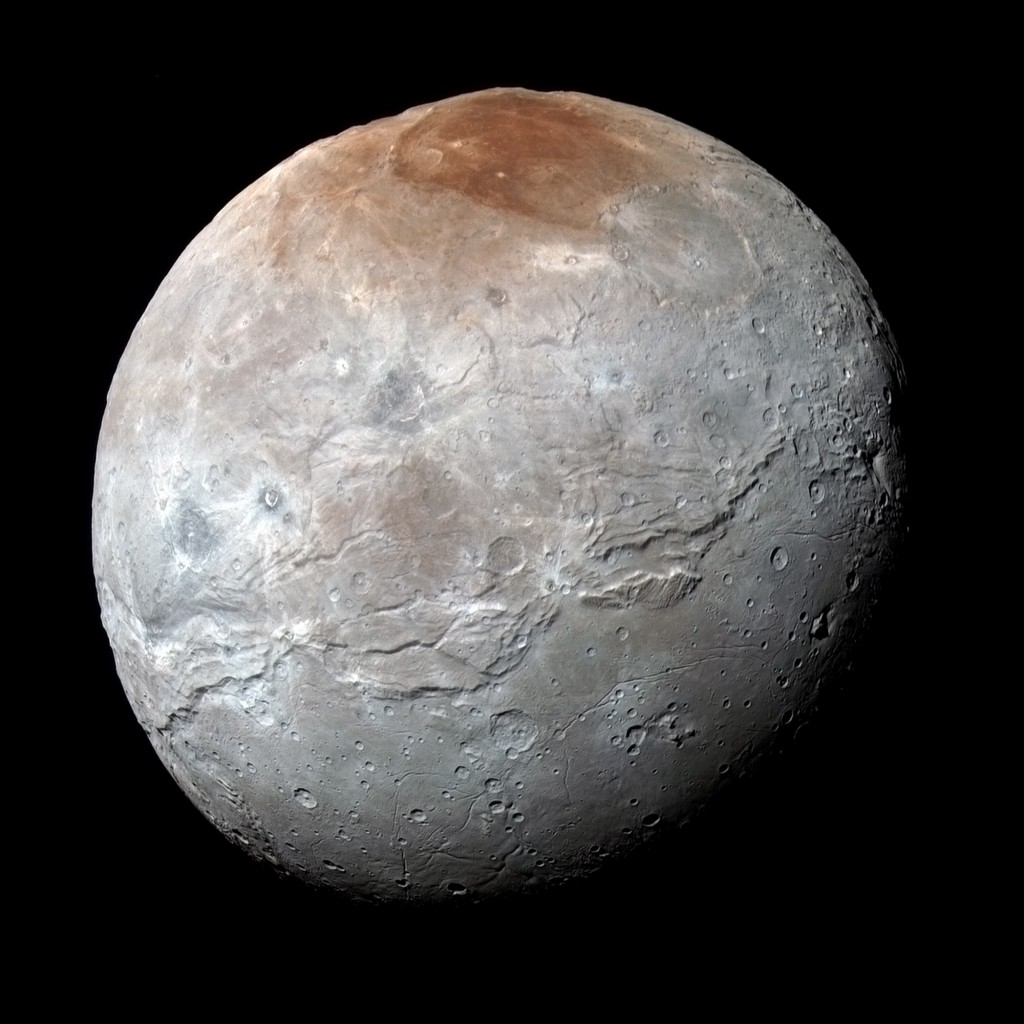 Charon door New Horizons (september 2015)